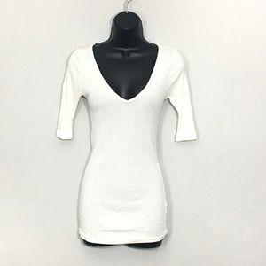 Michael Stars Off White Shirt O/S